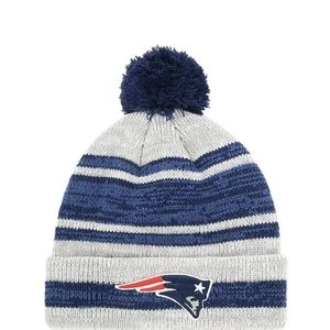 NFL New England Patriots Warm Puff Ball Hat
